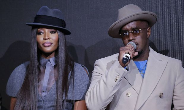 Sean Diddy mit Model Naomi Campbell.