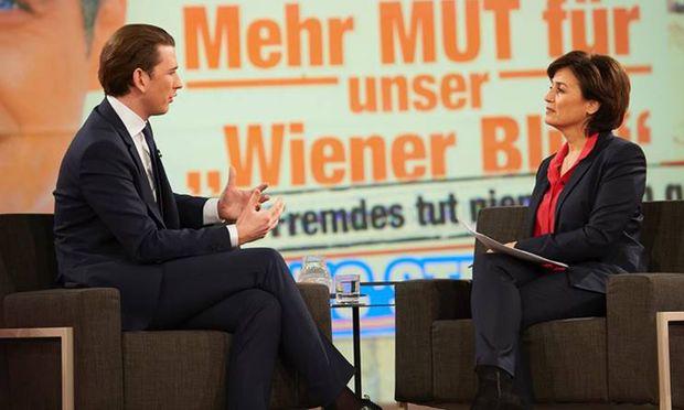Bundeskanzler Sebastian Kurz zu Gast bei Sandra Meischberger im ARD