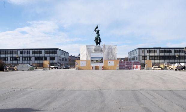 Ausweichquartier des Parlaments am Heldenplatz