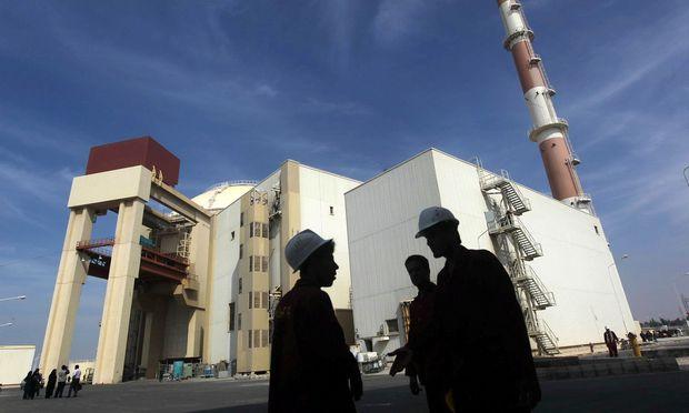 Das Atomkraftwerk von Bushehr 1200 km südlich von Teheran