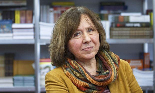 """""""Keine Historikerin, sondern eine Menschenforscherin"""", die diesjährige Literaturnobelpreisträgerin aus Minsk, Swetlana Alexijewitsch."""
