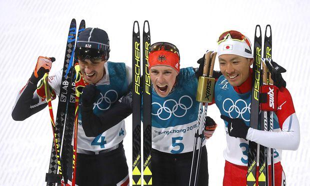 Lukas Klapfer, Eric Frenzel, Akito Watabe.
