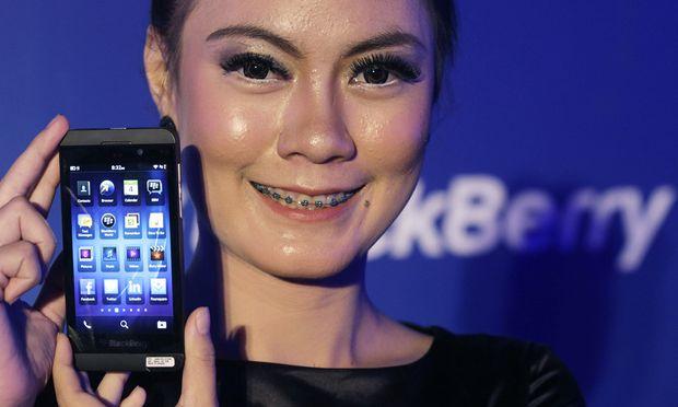 Eine neue Blackberrys letzten