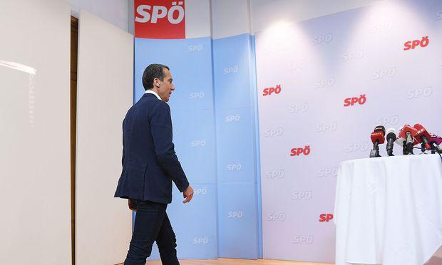SPÖ-Chef Christian Kern verkündet seine politische Zukunft.