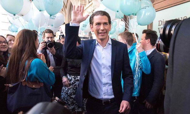 Sebastian Kurz beim ÖVP-Wahlkampffinale