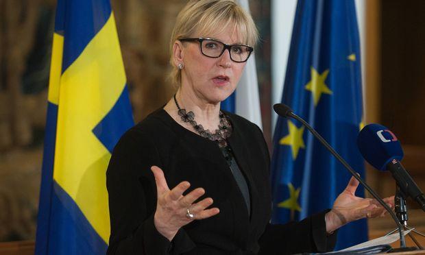 Schwedens Außenministerin Wallström. / Bild: (c) imago/CTK Photo (imago stock&people)