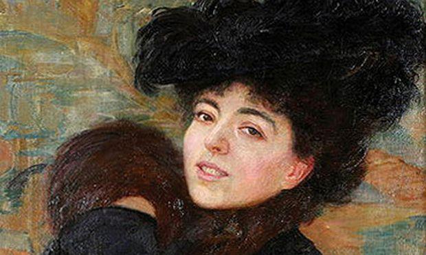 Die Wiener Malerin Leopoldine Auer posiert 1902 für ihren Mann Robert, dem sie nach Zagreb folgte.