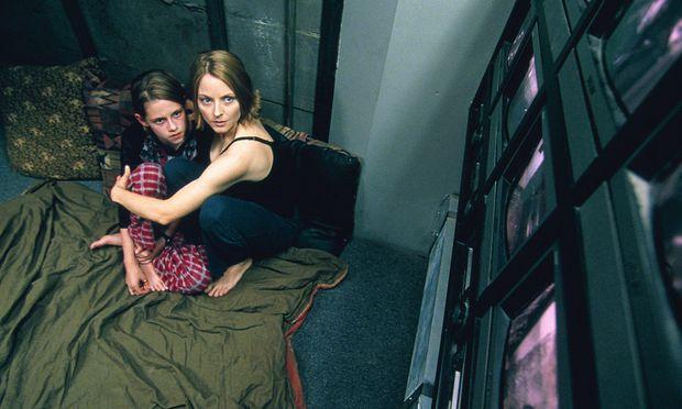 """Jodie Foster und Kristen Stewart noch als Kind in """"Panic Room""""."""