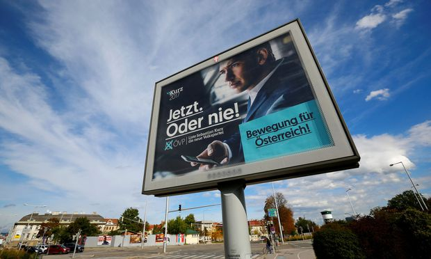 Symbolbild: Wahlplakat von Sebastian Kurz