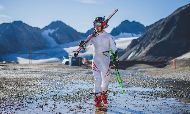 Marcel Hirscher beim Training am Pitztaler Gletscher in Mittelberg.
