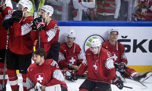Ramon Untersander of Switzerland after the IIHF World Championship WM Weltmeisterschaft Ice hockey E
