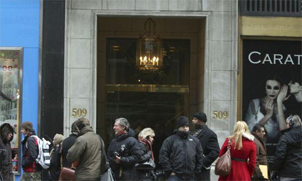 Eingang zum Büro von Rene-Thierry Magon de la Villehuchet