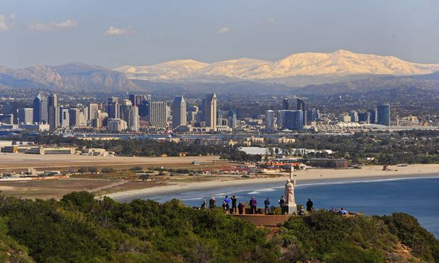 Downtown und Point Loma mit dem Cabrillo National Monument.