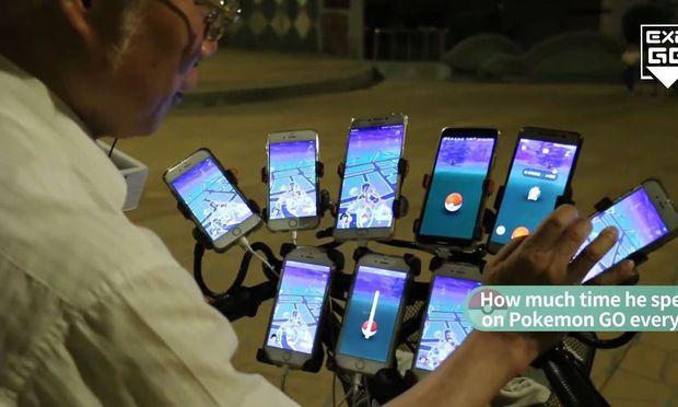 """""""Pokemon Go-Onkel"""" geht Nachts mit elf Handys auf 'Monsterjagd'"""