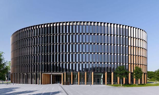 Rathaus Freiburg Außenansicht.