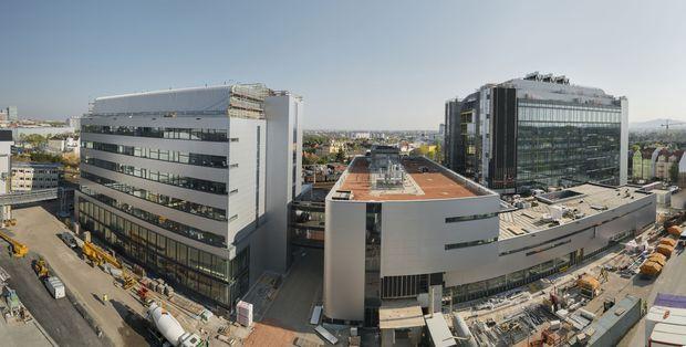 Panorama der Baustelle.