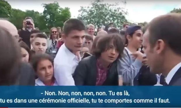 Macron ermahnt Jugendlichen: