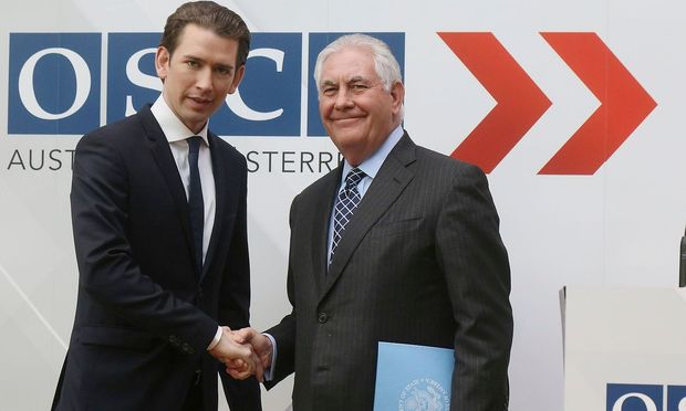 Tillerson lobt Kurz in der gemeinsamen Pressekonferenz am OSZE-Gipfel.