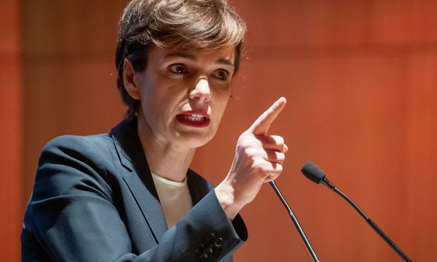 SP-Bundeschefin Pamela Rendi- Wagner hatte in Innsbruck einen starken Auftritt.