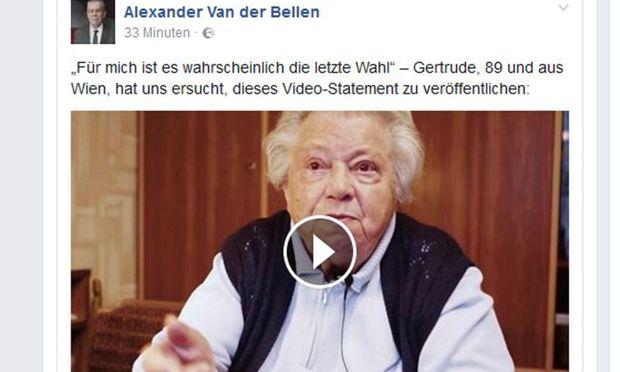 """""""Frau Gertrude"""" wurde durch ein Facebook-Video bekannt."""