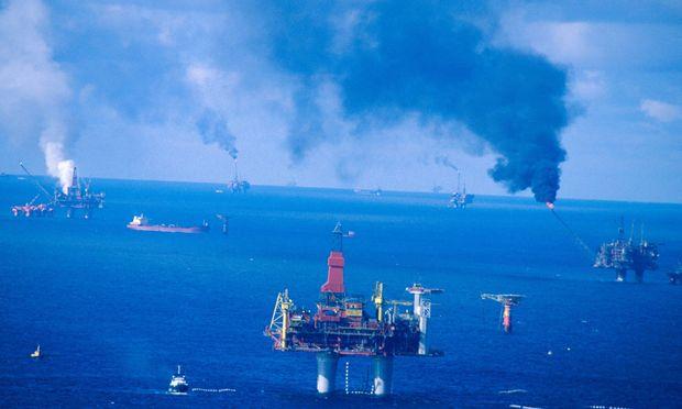 Förderplattformen in der Nordsee. Auch die OMV ist in den neuen Konflikt zwischen Russland und den USA geraten.