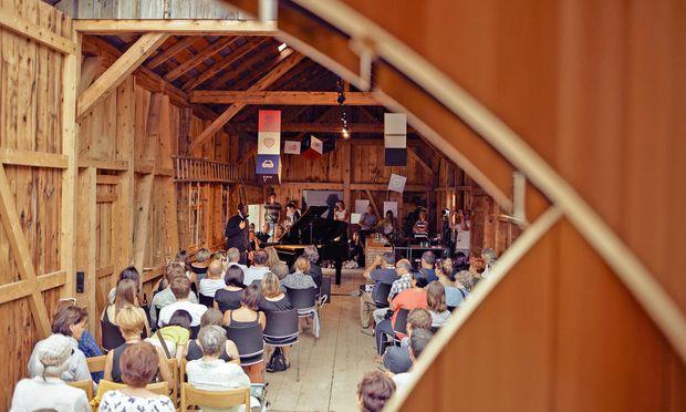 Holz und Klang. Konzert in der Alten Säge in Bezau.