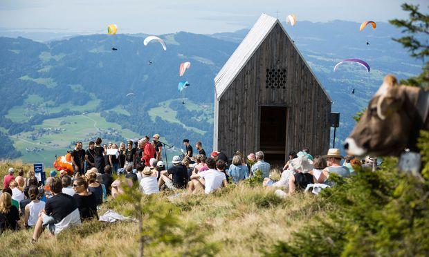 Höhe und Farbe. Die Landschaft des  Bregenzerwaldes.