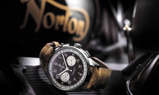 Breitling gibt der Baselworld 2020 eine Absage. (Im Bild: Premier B01 Chronograph 42 Norton Edition).