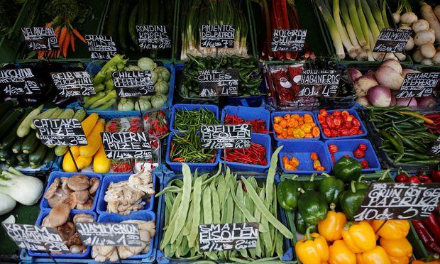 Archivbild: Gemüse auf einem Wiener Markt