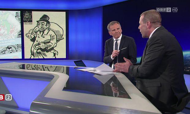 """Der Stein des Anstoßes: Ein Bildervergleich von FPÖ-Poster und """"Stürmer""""."""
