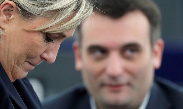 Le Pen/ Philippot. / Bild: (c) REUTERS (Christian Hartmann)