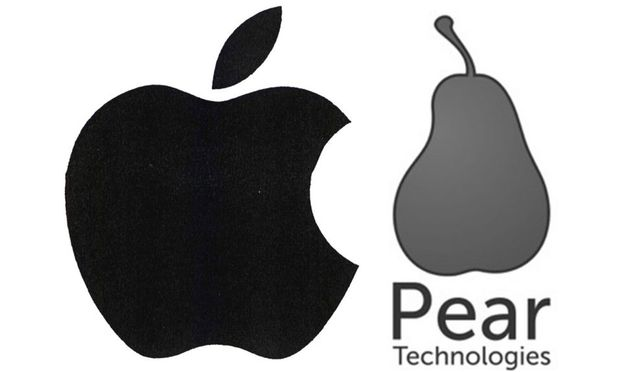 Apple (links) befürchtet laut EUIPO zu Recht eine Verwechslungsgefahr mit Pear Technologies (rechts)