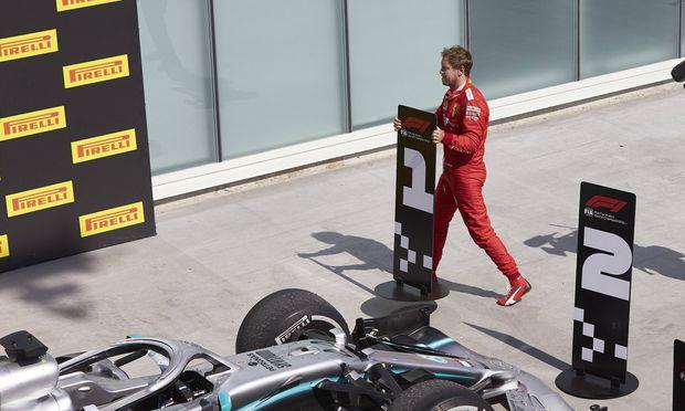 Sebastian Vettel erklärte sich in Montreal selbst zum Sieger.