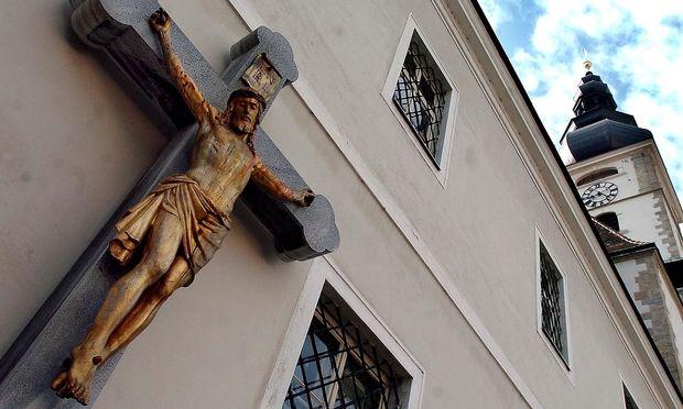 Archivbild: Blick auf das bischöfliche Palais und den Dom in St. Pölten