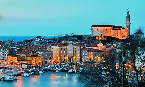 Archivbild. Die Bucht von Piran ist Sloweniens einziger Zugang zum Mittelmeer.