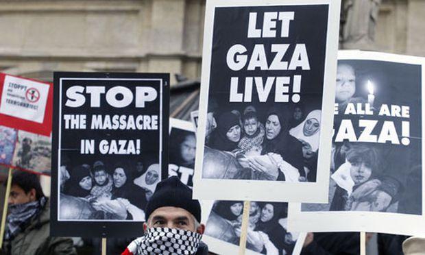 Demonstration gegen Israel in Wien am Freitag