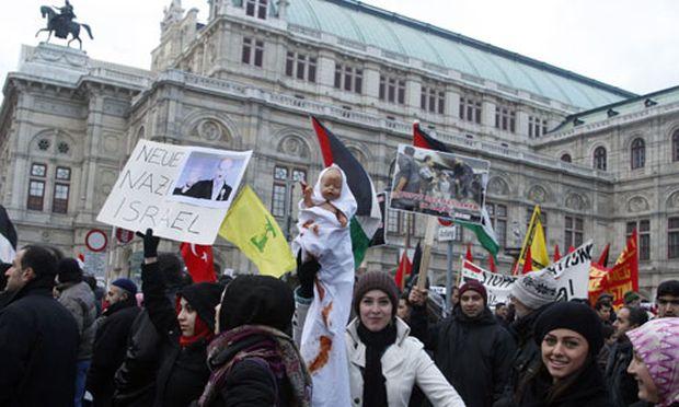 Tausende demonstrierten in Wien für Gaza