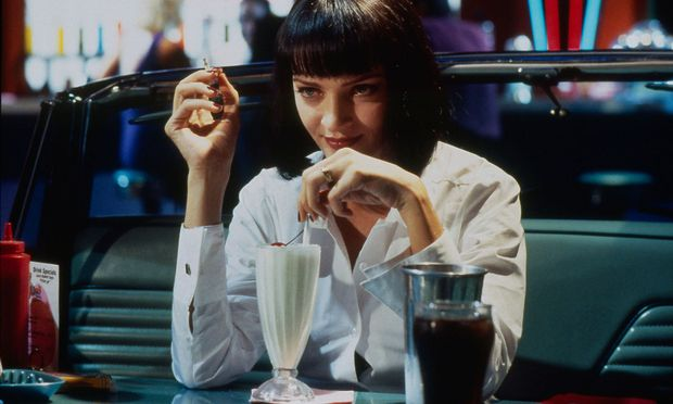 "Uma Thurman in Tarantinos ""Pulp Fiction"", der 1994 in Cannes triumphierte."