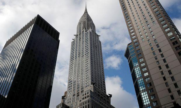 Das Chrysler Building, ein Meisterwerk des Art Deco, an der 42. Straße in Manhattan.