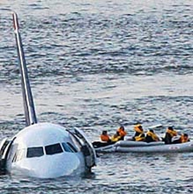 Flugzeug im Hudson River