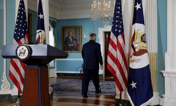Rex Tillerson erfuhr von seiner Entlassung laut US-Medien über Twitter. Trump soll den Minister nicht persönlich darüber informiert haben.