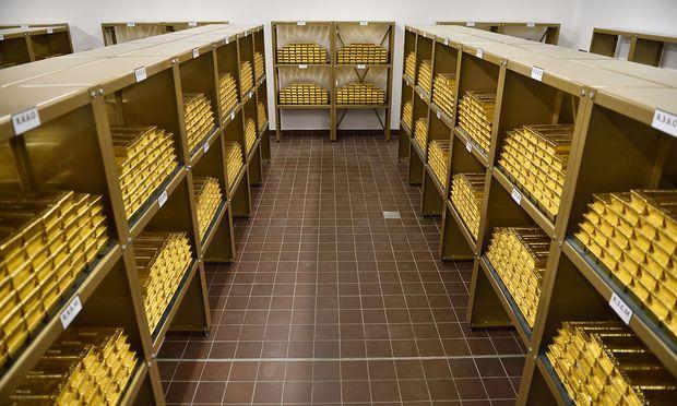 Goldreserven in der Österreichischen Nationalbank.