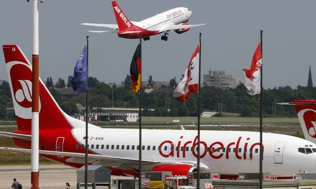 File photo of German carrier Air Berlin aircraft taking off at Berlin's Tegel airport