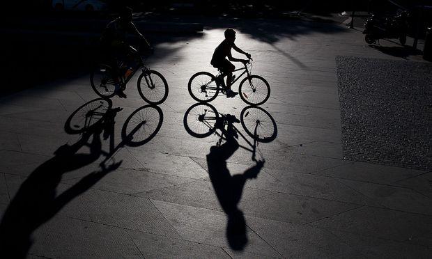 Archivbild: Radfahrer in Madrid