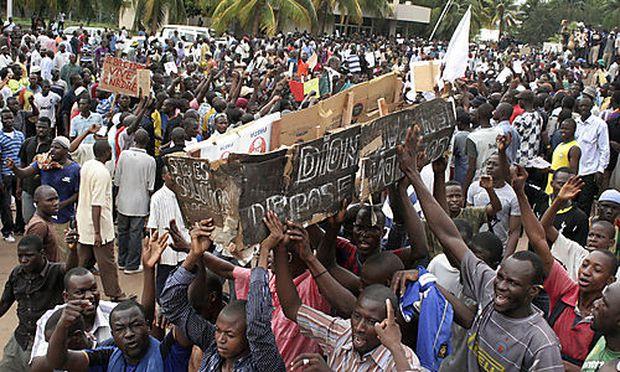 Demonstranten in der malischen Hauptstadt Bamako