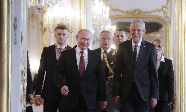 Präsident Van der Bellen mit seinem russischen Amtskollegen Putin.