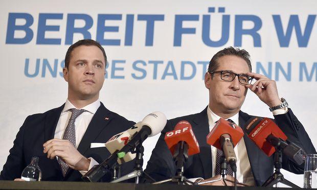 FP-Klubobmann Johann Gudenus und Vizekanzler Heinz-Christian Strache