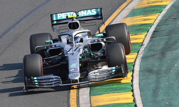 Mercedes' Valtteri Bottas drives through turn two during the Formula One F1 Australian Grand Prix at the Albert Park Grand Prix Circuit in Melbourne