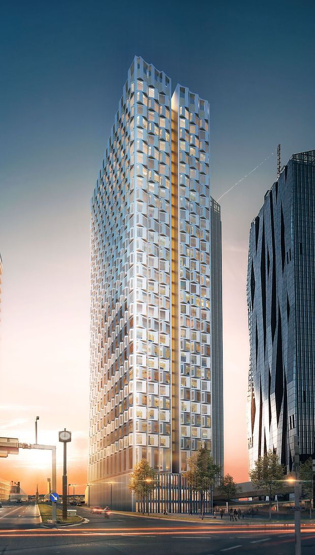 Visualisierung DC Tower 3: DIe Fertigstellung ist für 2021 geplant.