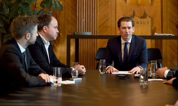 Bundeskanzler Sebastian Kurz beim Interview